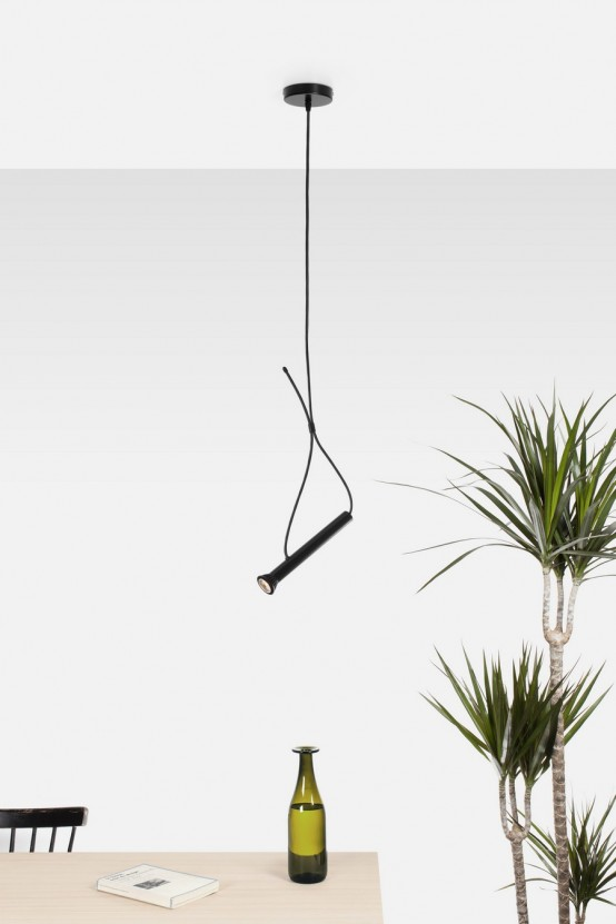 Intriguing Torch Shaped Lasso Lamp