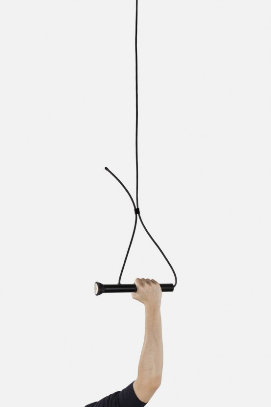Intriguing torch shaped lasso lamp digsdigs - Lampe suspendue ikea ...