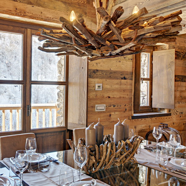Inviting Italian Chalet Completely From Wood And Stone
