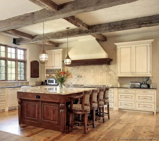 10 Unique Small Kitchen Design Ideas: 36 Inviting Kitchen Designs With Exposed Wooden Beams