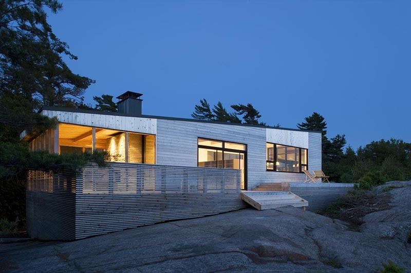 Island Cottage Nested In Washed Granite Shift Cottage By
