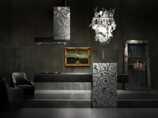 Isola Linear Artistic Kitchen By Toto