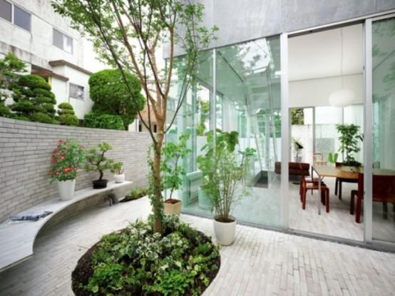 Indoor Courtyard Garden Interior Design