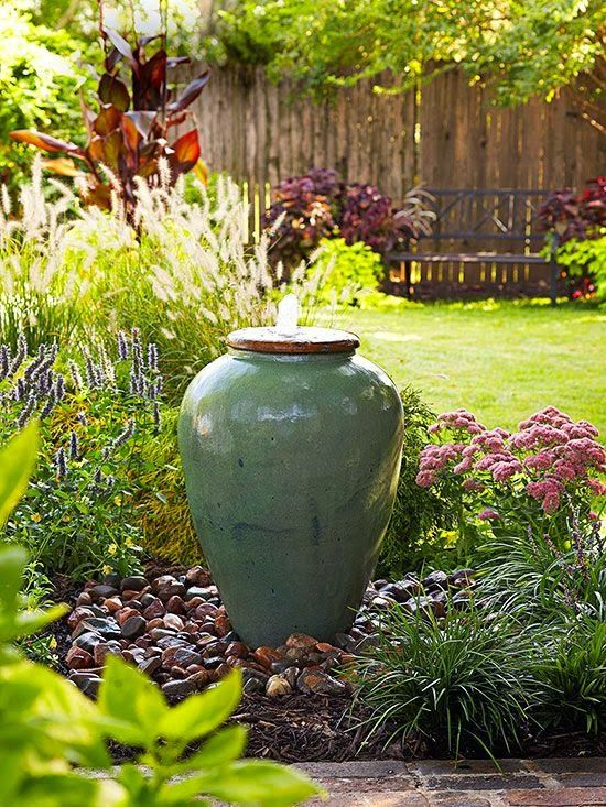 29 joyful and beautiful backyard and garden fountains to for Garden feature ideas