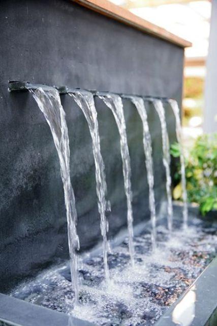 29 joyful and beautiful backyard and garden fountains to for Wall water fountain