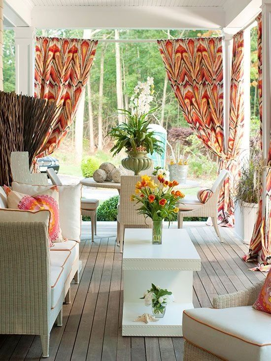36 joyful summer porch d cor ideas digsdigs for Patio decorating photos