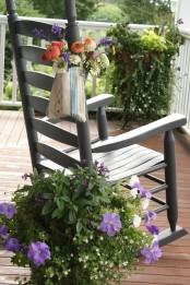 if you don't have much space, just place a chair and some potted flowers and greenery