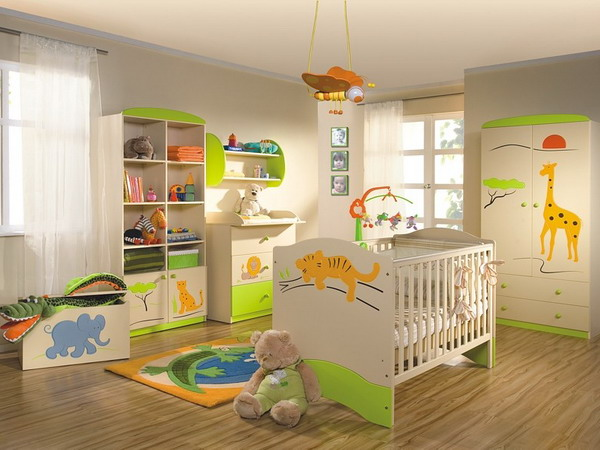 25 cool jungle inspired kids room designs digsdigs - Decoration chambre bebe jungle ...