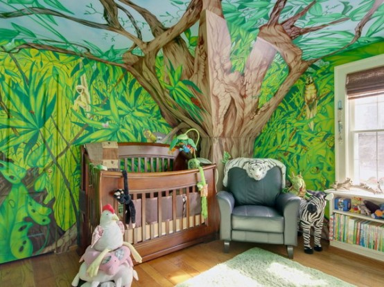 Jungle Inspired Kids Room