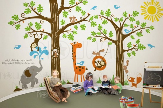 Jungle Inspired Kids Room Part 11