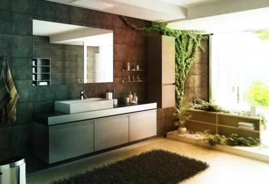 Jungle-like Bathroom