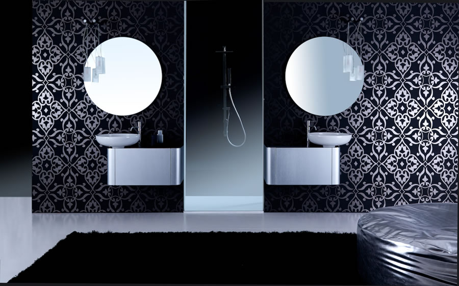 Rounded Bathroom Cabinets With Reduced Depth K08 From Karol Digsdigs