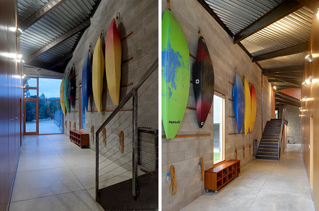 House Design Oriented Toward The River Kayak House