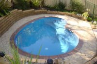 kidney-shaped outdoor plunge pool