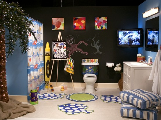 Incroyable 10 Cute Kids Bathroom Decorating Ideas