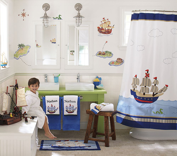 10 cute kids bathroom decorating ideas digsdigs for Ideas for bathroom decorating themes