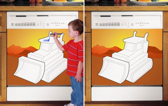 Cool Kids Dry Erase Boards – Dishwasher Cover Panels by Applicianist Art
