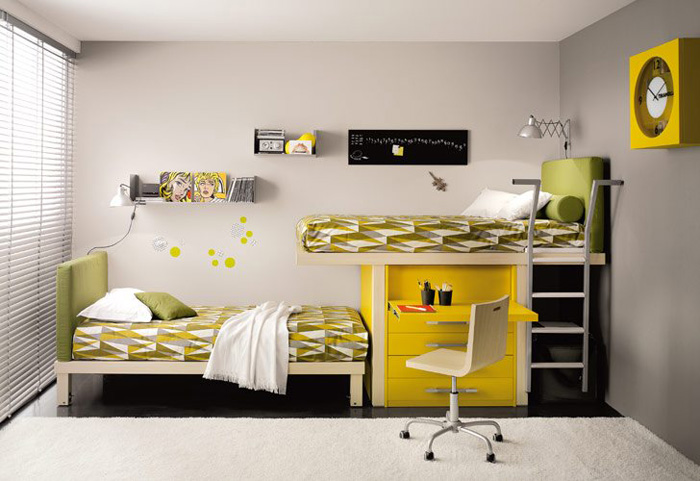 Kids loft double beds by tumideispa digsdigs - Camas doble para ninos ...