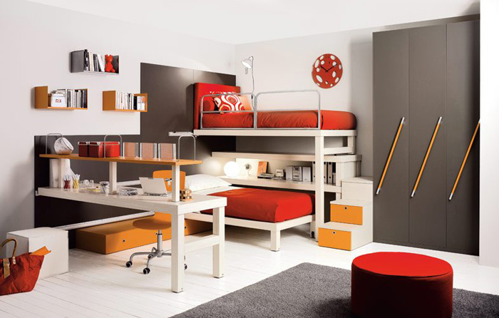 Kids loft double beds by tumideispa