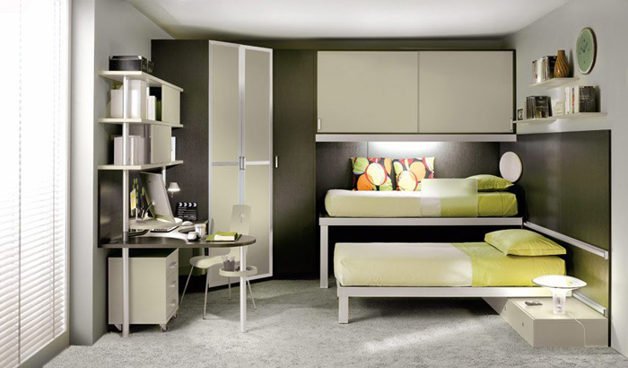 Kids Double Bed Bedroom Designs 700 x 410