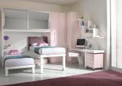 kids pink loft beds
