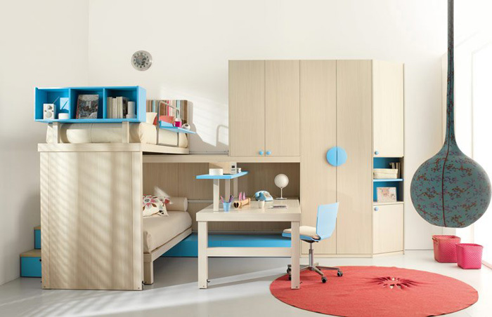 Kids loft double beds by tumideispa digsdigs - Small modern houses with loft the practical choice ...