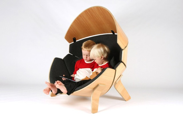 Kids Private Hideaway Molded Plywood Chair