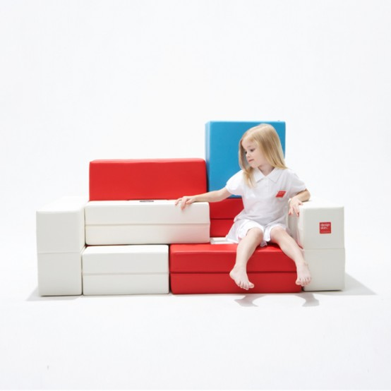 Cool Modular Sofa for Kids – PS30 Puzzle Sofa by Designskin