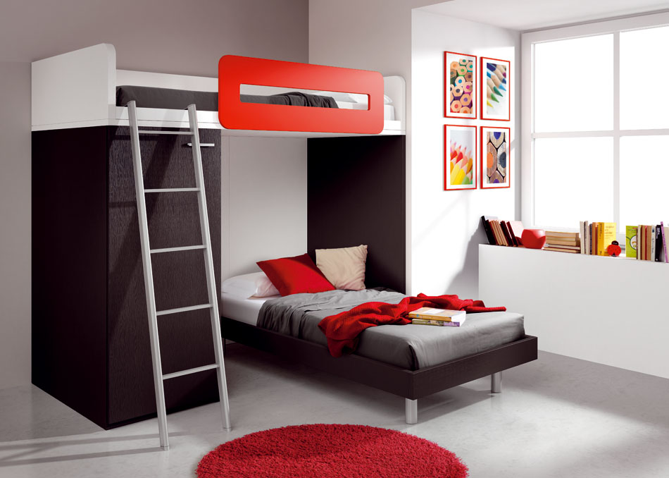 40 cool kids and teen room design ideas from asdara digsdigs for Cool beds for small bedrooms
