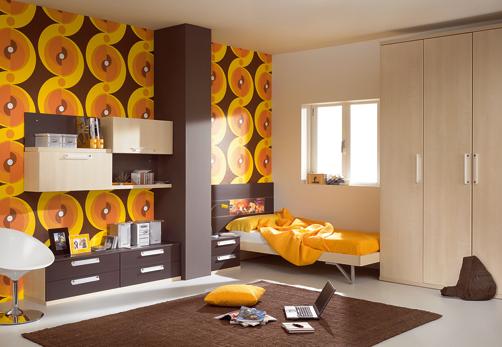 kids room decor brown - Brown Kids Room Interior