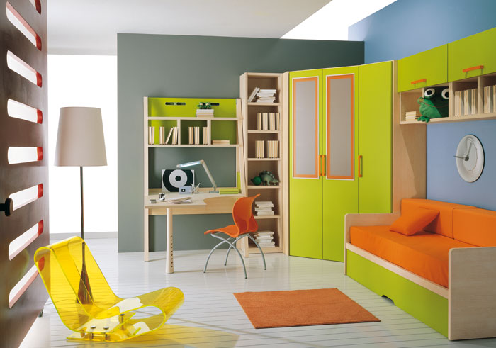 45 kids room layouts and decor ideas from pentamobili - Kids room color combination ...