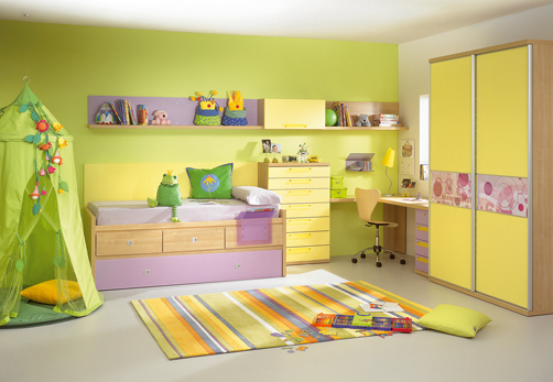 Kids Room Decor Yellow Green
