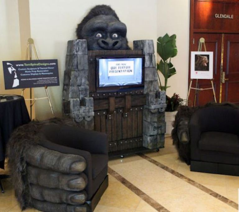 King Kong Inspired Home Theater Design