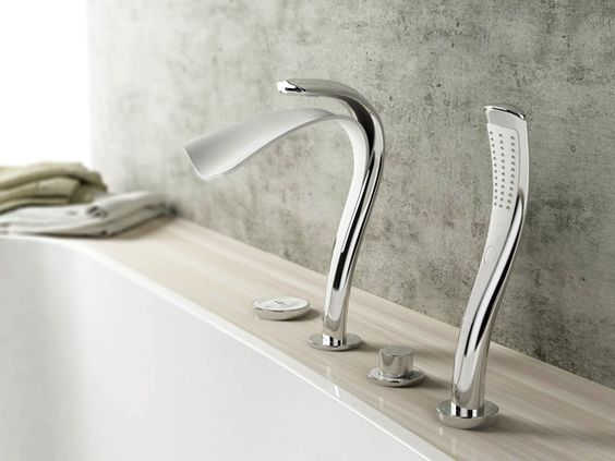 Picture Of kitchen and bathroom trend flowing faucets  25