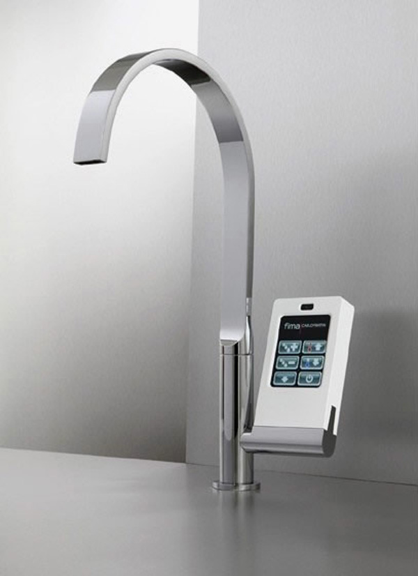 Hi Tech Kitchen Faucet With Touch Screen Controller Digsdigs