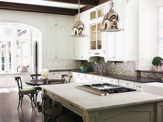 Some kitchen islands are so compact that you can only fit a cooking top there. They are still quite practical.