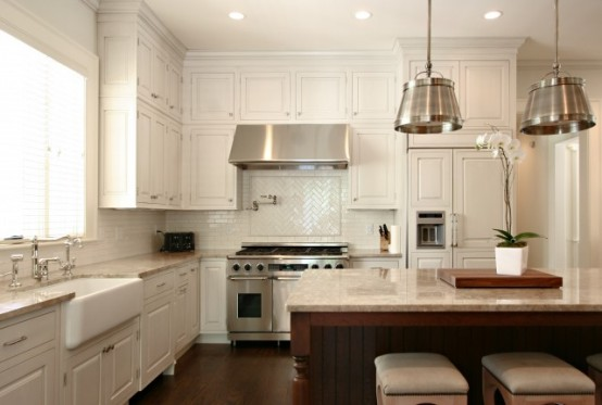 Don't forget that pendant lights is the best way to highlight your awesome kitchen island.