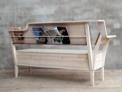 Kitchen Sofa With Books Storage