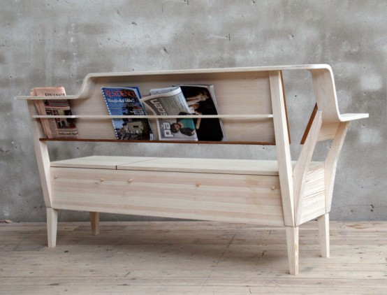 Kitchen Sofa With Books Storage