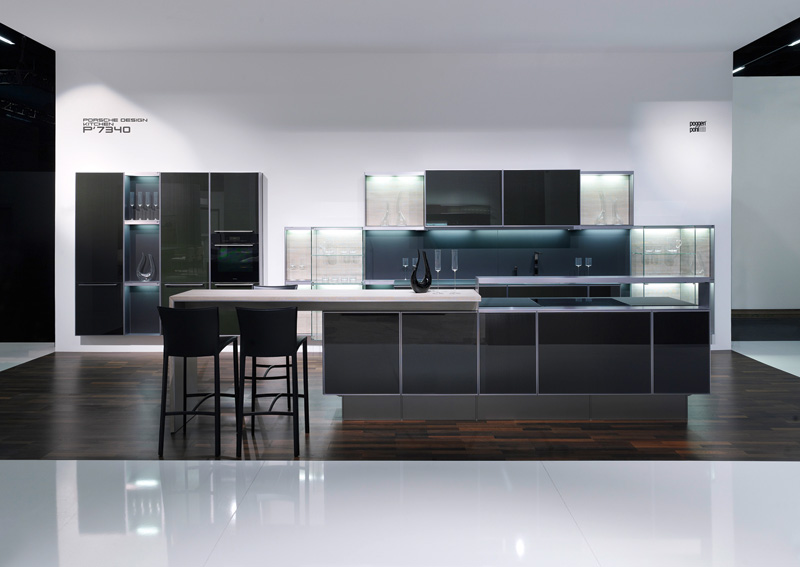 Modern and Mannish Kitchen With Carbon Doors