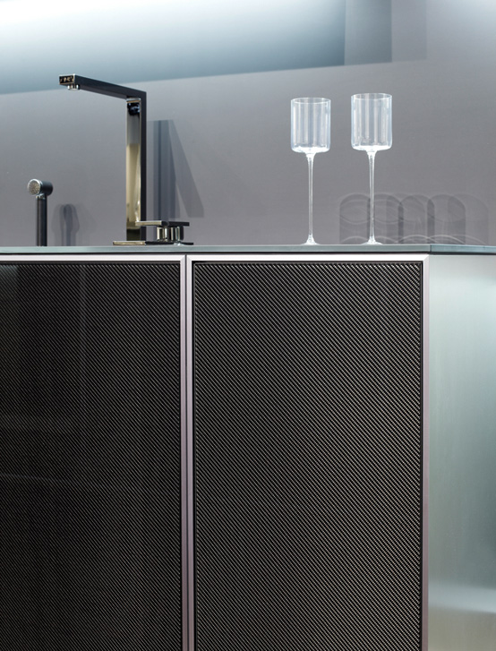 Kitchen With Carbon Doors