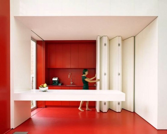 Kitchen With Folding Panels To Transform The Space