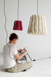 Knitted Woolen Pendant Lamp