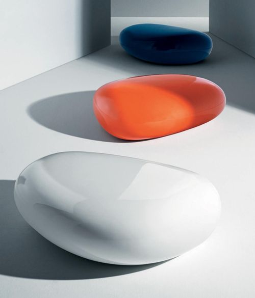 Modern And Functional Philosophical Table And Pouf In One