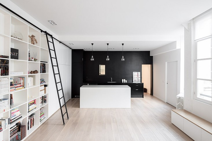 Laconic And Functional Paris Loft With Built-In Storage
