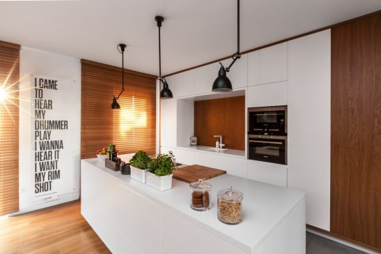 Laconic Yet Cozy Apartment In White And Natural Wood
