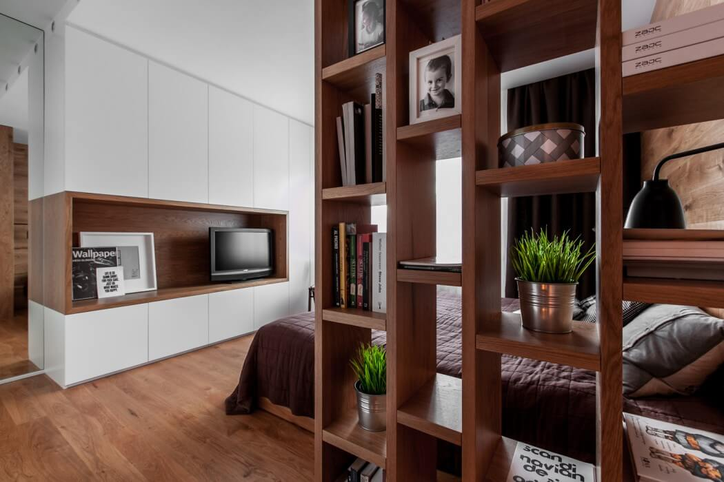 Laconic Yet Cozy Apartment In White And Natural Wood ...