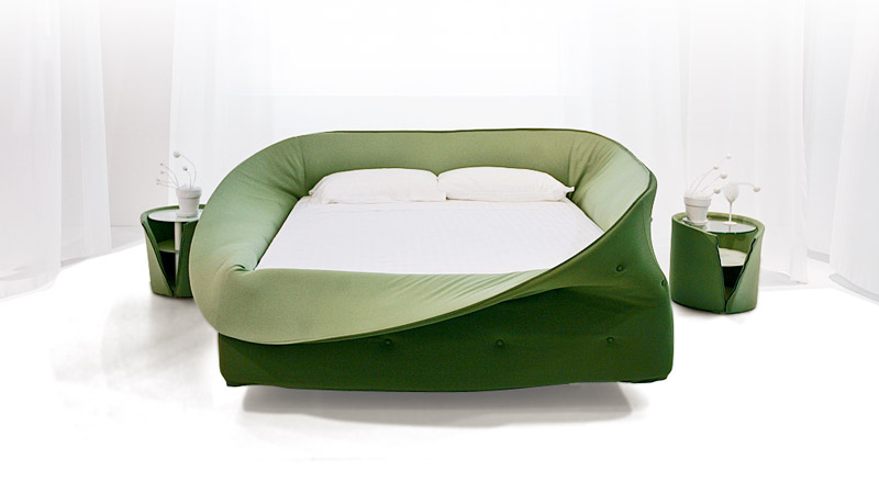 Modern Bed with a Protection Wrapper – Col-Letto by Lago