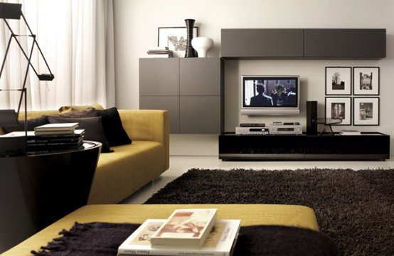 25 modern living room layouts from tumidei digsdigs for Contemporary living room furniture