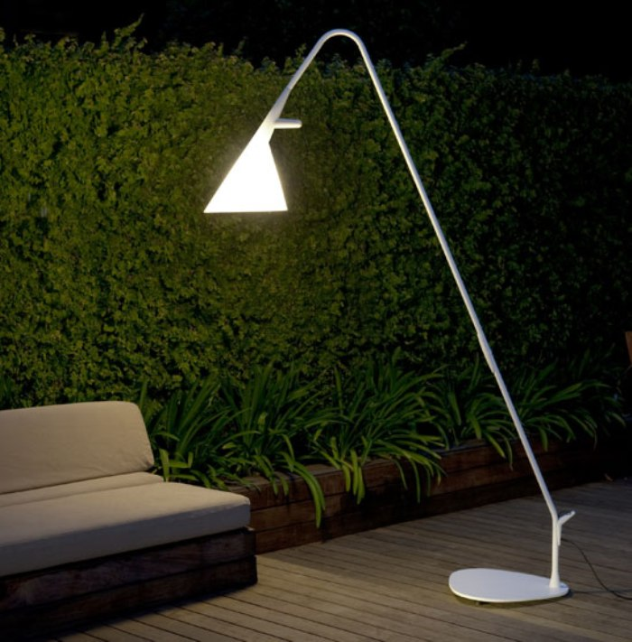 An Outdoor Lamp Connecting Interior And Exterior